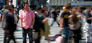 Stranger in the crowd